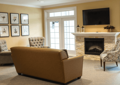 fireplace bluegrass senior living